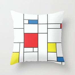 60s Mod Abstract Art Pattern 2 Throw Pillow