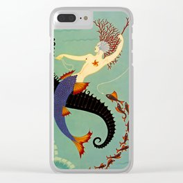 "Art Deco Illustration ""Water"" by Erté Clear iPhone Case"