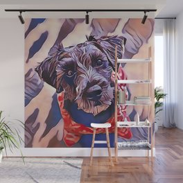 The Schnoodle - A Schnauzer Poodle Mix Breed Wall Mural