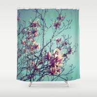 vintage flowers Shower Curtains featuring Vintage Flowers by ALP-Fotografie