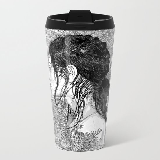 Love is in Beauty and Chaos Metal Travel Mug