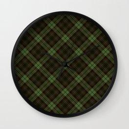 Scottish tartan #43 Wall Clock