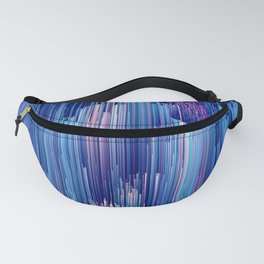 Beglitched Waterfall - Abstract Pixel Art Fanny Pack