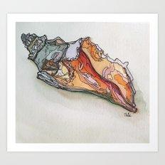 .shell I Art Print