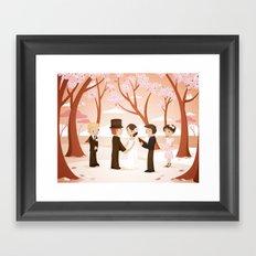 Wedding scene Framed Art Print