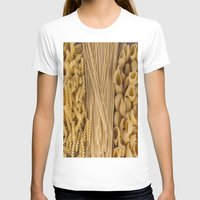 pasta T-shirts featuring Different kind of pasta by Joseagon