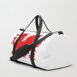 Welsh Dragon With Grunge Duffle Bag