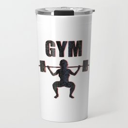 Gym Female Weightlifter Travel Mug