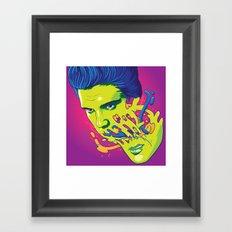Happily melting Elvis Framed Art Print