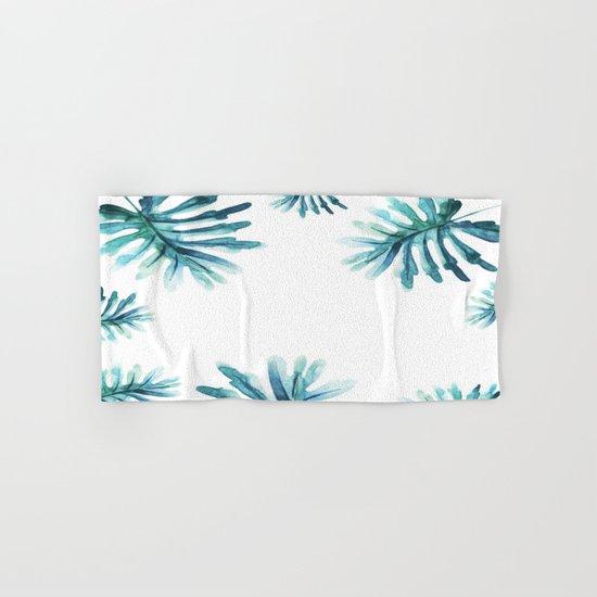 Watercolor botanic pattern Hand & Bath Towel
