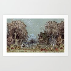 The Gardens of Astronomer Art Print