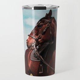 Blaze the horse color Travel Mug