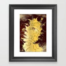 girl in the galaxy Framed Art Print
