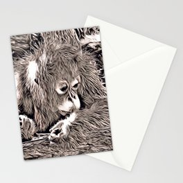 Rustic Style - Orang Baby Stationery Cards