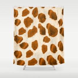 Wild Giraffe Print Shower Curtain