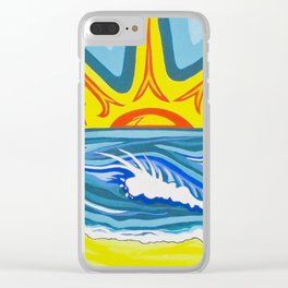 Surfers Summer Days Clear iPhone Case