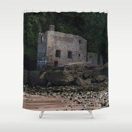Elberry Cove Bath House Shower Curtain