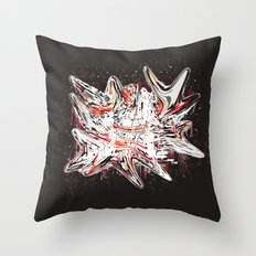 Mind bending Splat Throw Pillow