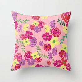 Bonny blooms Throw Pillow