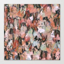 Abstract Confetti Landscape Peach Canvas Print