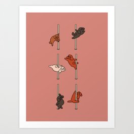 Poodle Pole Dancing Club Art Print