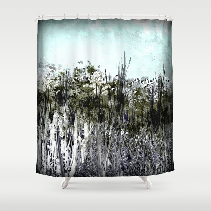 Black And White Flower Garden Shower Curtain By Jessielee72 Society6
