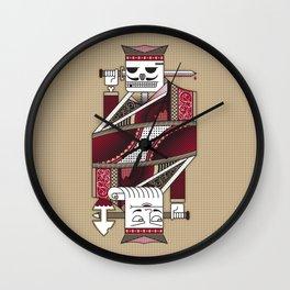 Skeleton Card. Wall Clock