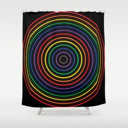 Colorful circle Shower Curtain