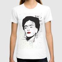 frida T-shirts featuring Frida by Cynthia Alvarez