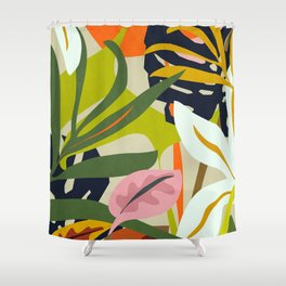 Jungle Abstract 2 Shower Curtain