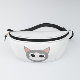 Grey & White Cat Fanny Pack