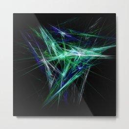 Green light beam Metal Print