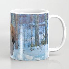 Staredown with bison Coffee Mug