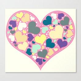 Hearts and Dots Canvas Print