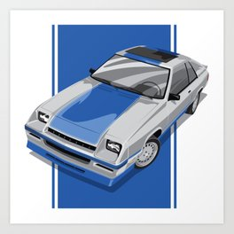 1983S L-Body Charger Silver Art Print