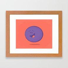 Gratified Grape Framed Art Print