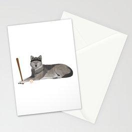 Baseball Wolf Stationery Cards