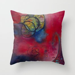 Blooming Present Throw Pillow