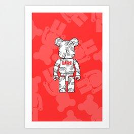 Be@rbrick DACHI Art Print