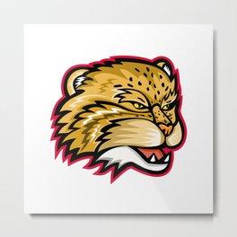Manul or Pallas Cat Head Mascot Metal Print