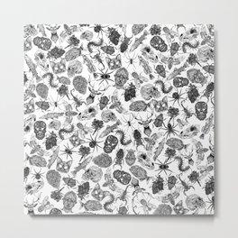 Pattern Black Metal Print