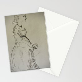 study of a lady Stationery Cards