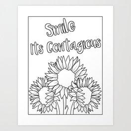 Smile Its Contagious Art Print
