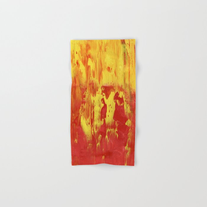 Yellow and Red make Orange Abstract Hand & Bath Towel