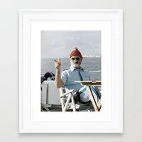 life aquatic Framed Art Prints featuring LIFE AQUATIC by VAGABOND