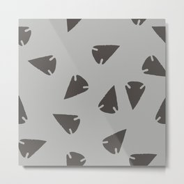 ARROWHEADS-SILVER Metal Print
