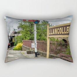 Llangollen Railway Station Rectangular Pillow