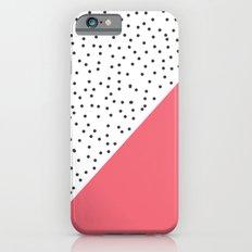 Geometric grey and pink design iPhone 6s Slim Case