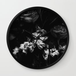 Moody Blooms Wall Clock