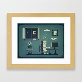 Screenstruck graphic illustration Framed Art Print